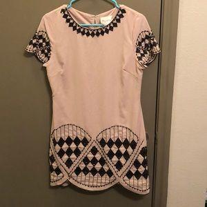 Lulus (Moon Brand) Tan Sequin Dress